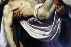 Caravaggio, Deposition (detail), c. 1600-04