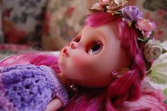 DSC_0085 (2) (Lindy Dolldreams) Tags: girl face doll custom blythedoll rosezie noraooakcustomblythe