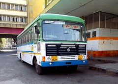 MSRTC brand New Semi Luxury Resting at Mumbai Central Depot (gouravshinde94) Tags: bus semi mumbai luxury ashok leyland pushback beed hirkani msrtc
