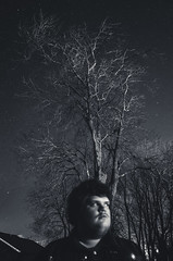R2004955 (Daniel John Benton) Tags: longexposure trees england blackandwhite house selfportrait tree night stars gr berkshire ricoh ricohgr starry selfie westberkshire starrysky
