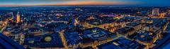 Leipzig at twilight (daniel_moeller) Tags: germany deutschland europa europe nightlights saxony leipzig sachsen bluehour markt neuesrathaus uniriese cityhochhaus thomaskirche blauestunde cityhochhausleipzig mdrhochhaus rathausleipzig sigma30mmf28dn sonynex3n