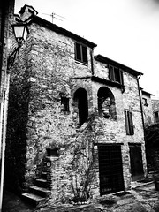 P1237374 (zullo_stefano) Tags: old bw italy vintage blackwhite oldstyle village country olympus tuscany oldtown zuiko pasttime oldtime e5 nocolors