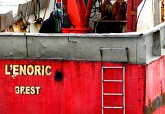 Worker on boat Lanildut (patrick_milan) Tags: sea mer boat ship worker bateau soudeur