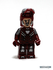 Revealing Tony Stark's facial appearance (WhiteFang (Eurobricks)) Tags: man game video iron lego tony suit hero superheroes marvel stark promotional armour exclusive avengers
