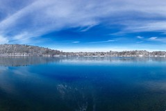 Jamaica Pond ((Jessica)) Tags: blue trees winter white snow ice nature water boston landscape frozen pond massachusetts newengland minimal clean clear simple minimalist pw emeraldnecklace jamaicapond winterstormlexi