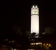 Coit Tower (San Diego Shooter) Tags: sanfrancisco longexposure cityscape coittower coittoweratnight