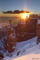 Thors Hammer Sunrise - Reconstructed (Alfred J. Lockwood Photography) Tags: morning winter snow nature photoshop sunrise landscape utah sandstone brycecanyon thorshammer brycecanyonnationalpark alfredjlockwood
