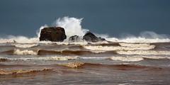 Storm Crashing on Chapel Rock (Andrew Hocking Photography) Tags: morning sea storm rock coast cornwall waves hightide perranporth chapelrock stormimogen