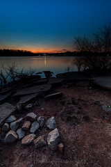 Afterglow (John Cothron) Tags: longexposure winter sunset sky usa cloud sun cold color nature rock digital georgia landscape concrete us twilight dusk unitedstatesofamerica gainesville scenic sunny thesouth dixie 15mm clearsky hollypark eveninglight afterglow lakelanier carlzeiss hallcounty americansouth southernregion 35mmformat johncothron canoneos5dmkii southatlanticstates leefiltersystem cothronphotography 3stopsoftedgegraduatedneutraldensityfilter lee90gs zeissdistagont2815mmze ©johncothron img12999160308