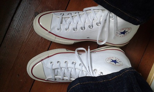65543d8a95d Converse close up. Optical white Chuck Taylor 70s. - a photo on ...