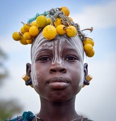 Mursi Girl (Rod Waddington) Tags: africa park portrait people outdoors costume african traditional culture tribal national afrika omovalley ethiopia tribe ethnic mago mursi cultural afrique ethiopian omo etiopia ethiopie