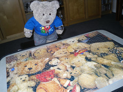 TA DAH!!! (pefkosmad) Tags: ted teddy bears hobby puzzle teddybear leisure jigsaw teddies pastime upstarts millersantiques tedricstudmuffin