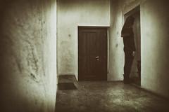 Hollow 50-366 (a_Valentine) Tags: door wall vintage hall gloomy cage jail macabre vignette hollow prisoner 365days 365daysproject 365project rückenfigur avalentine macabrehorror prisonergirl