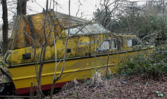 High and Dry (Rogpow) Tags: abandoned yellow boat fuji decay neglected newport isleofwight fujifilm derelict fujix30