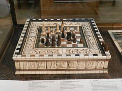Games Board, with chess pieces, Ashmolean Museum, Oxford Feb 2016 (allanmaciver) Tags: city england museum university view display quality board chess style games oxford backgammon enclosed admire ashmolean slass allanmaciver