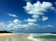 Fraser Island (PeterCH51) Tags: sky cloud beach island coast australia shore queensland fraser fraserisland iphone seventyfivemilebeach 75milebeach peterch51
