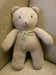 Bear From Old Sweater (The Creative Beast) Tags: stuffedtoy softie softtoy stuffedbear recycledsweaters beartoy stuffedtoyfromrecycledsweaters