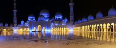 Sheikh Zayed Mosque Wide (Wesam Alissa) Tags: longexposure nightphotography travel architecture night canon lights nightlights uae wide mosque abudhabi nightphoto lightreflection nightonearth sheikhzayedmosque wesamalissa