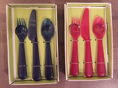 #mommyjtips This 3-piece flatware set from Circo is perfect for toddlers and little kids! I've tried all kinds of kids' spoon, fork,& knife for my 1yo & 4yo but these are the best for a child to grip!Plus it's light &durable!BPA free&dishwasher safe,too! (Travel Galleries) Tags: blue light red food usa set kids children circo mommy knife fork spoon plastic eat meal tips tots target feed safe easy dine toddlers sturdy flatware convenient grasp dishwashersafe mommyjtips jlsfinds