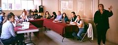 Personal de la SE SIDNNA se encuentra en la reunión de la mesa de justicia para adolescentes.