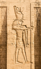 Wall Detail - Horus at Temple of Horus (BlueVoter - thanks for 1.3M views) Tags: temple ancient egypt horus egipto archeology edfu aegypten