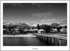 Winter Morning at Luss (flatfoot471) Tags: winter urban sunrise landscape scotland blackwhite unitedkingdom lochlomond luss 2011 argyllbute