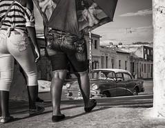 going out (Gerard Koopen) Tags: life street people blackandwhite bw woman blancoynegro monochrome umbrella 35mm photography women fuji fotografie candid cuba streetphotography fijifilm straatfotografie camaquey gerardkoopen