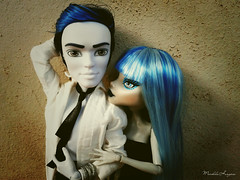 Billy & Lia ( MarildaHungria ) Tags: new boy man monster high doll lia zombie invisible freaky billy fusion mh mattel yelps ghoulia monsterhigh invisibilly scaremester newscaremester brdolls