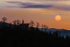 the last light (SonjaS.) Tags: orange germany deutschland abend chapel kapelle surise gengenbach sonnenunergang canon6d