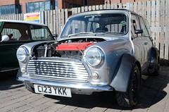 Mini Show (saddy_85) Tags: show travel blue black colour green car austin drive nikon waterfront small wheels flake sunny mini rover lincolnshire puzzle lincoln vehicle tyre brayford d5100