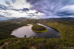 Meandro del Melero (iCalamonte) Tags: longexposure espaa ro river landscape spain paisaje meander melero extremadura meandro largaexposicin hurdes alagn riomalodeabajo