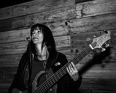 02469018-75-Beautiful Bass-1-Black and White (Jim would like to get on Explore this year) Tags: blackandwhite musician music spring bass guitar april 2016 backcountryhorsemen cowboytrailrides canon24105mmlens canon5dmarkiii