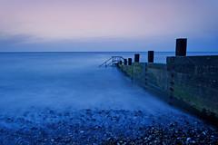 Cool Blue. (Andy Bracey -) Tags: longexposure sea seascape beach landscape sand nikon waves norfolk pebbles motionblur northsea groyne cromer breakwater coolblue bracey leefilters d700 andybracey littlestopper