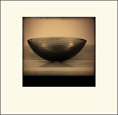 Bowl (Bob R.L. Evans) Tags: glass design minimalism simple sepiatone ipad ipadphotograpy