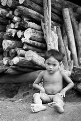 Yru minority boy, south Laos. (orocoshots) Tags: world voyage travel viaje portrait people blackandwhite bw art blanco girl canon photography eos photo asia village child y gente negro laos popular nio monocromtico