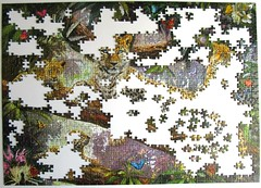 Stolze Leopardenmutter / Leopard Family (Leonisha) Tags: puzzle unfinished jigsawpuzzle