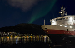 Northern Ligths over Hurtigruten, Troms (Echoes89) Tags: norway circle lights norge lappland arctic aurora northern borealis troms hurtigruten boreale