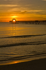 Sunset in Naples (mrossi80) Tags: ocean travel sunset summer usa holiday beach pier seaside tramonto florida naples sandybeach floridabeaches