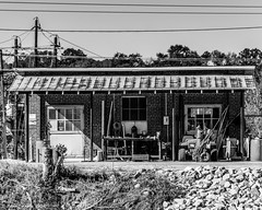 Tin Roof Building (that_damn_duck) Tags: bw architecture blackwhite unitedstates southcarolina tinroof
