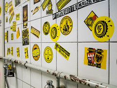 Sticker Museum at the toilet (snej1972) Tags: liverpool fans dortmund bvb westfalenstadion borussiadortmund europapokal europaleague