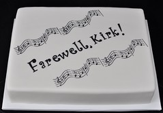 Sheet cake for retirement (jennywenny) Tags: cake musical sheet retirement