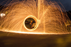 Steel Wool Photography Test (mark_watson01) Tags: test wool night canon circle landscape fire photography cool long exposure steel first sigma driveway sparkes sigma15mm lightphotography steelwoolphotography