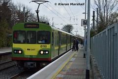 8118 arrives at Sandymount, 12/4/16 (hurricanemk1c) Tags: irish train siemens rail railway trains railways dart irishrail sandymount lhb 2016 iarnrd 8118 ireann iarnrdireann class8100 1525brayhowth