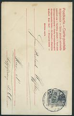 Archiv E054 Postkarte (back) nach Dresden Neustadt Oppelstrae, Poststempel vom 12. Mai 1905 (Hans-Michael Tappen) Tags: vintage stamps postcard 1905 1900s postkarte dresdenneustadt briefmarke poststempel 1900er archivhansmichaeltappen