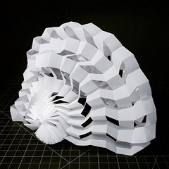 Shell structure (mike.tanis) Tags: art architecture design origami structure kirigami curved maquette transformable