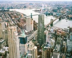 New York City II (danielfoster437) Tags: city newyorkcity urban newyork skyline analog buildings mediumformat corporate skyscrapers n officebuildings business commercial brooklynbridge newyorkskyline trade cityskyline finance mamiya7 newyorkcityskyline freedomtower corporatecenter meinfilmlab wwwmeinfilmlabde