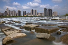 (tsaiian) Tags: road city travel sky urban building water beautiful rock architecture clouds river landscape coast photo office high asia day cityscape view shaped outdoor background famous tofu hsinchu taiwan scene growth nd touqianriver