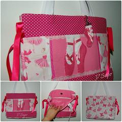 Ballet collage (D'Sapo) Tags: ballet bag handmade feitomo feltro bolsa tote bailarina tecido chaveiro bal sapatilha dsapo