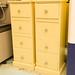 Cream painted slim 4 drawer locker
