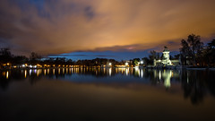 - Warped Reflections - (Mr. LookUP II M.K.Z.P. II) Tags: park parque sunset nature night clouds canon reflections landscape mirror spain tripod el retiro 1740mm vanguard 2015